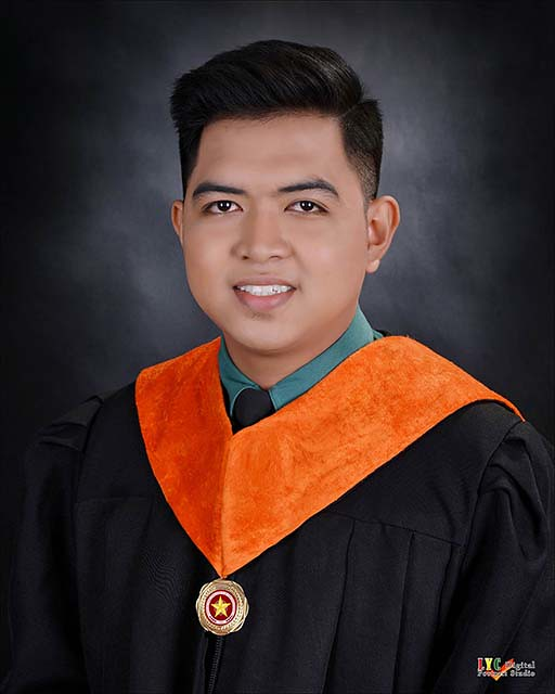 Carlo's graduation photo
