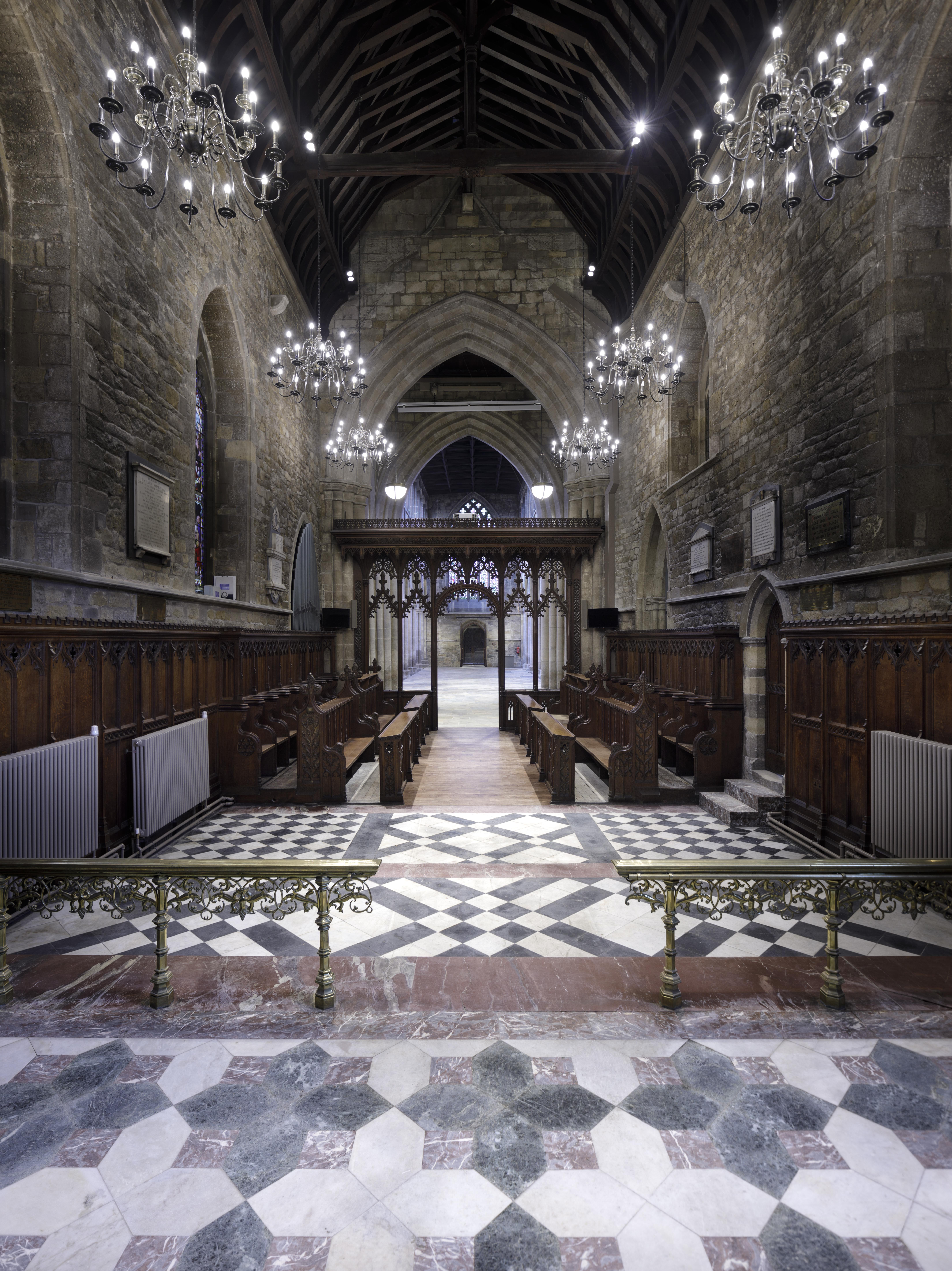 St Mary's church, Melton Mowbray - new flooring