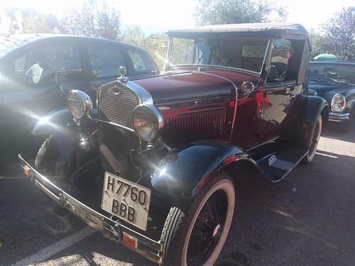 Vintage Red Ford at Camping Alto de Viñuelas