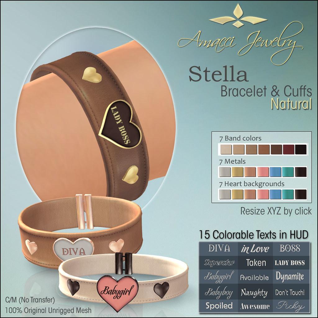 Amacci Stella Bracelet Cuffs Natural