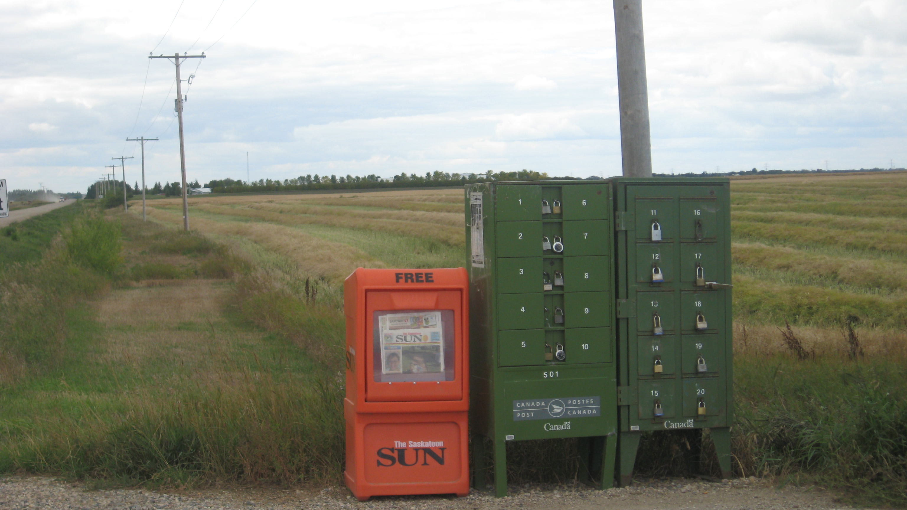 Canada Post Rural Community Mail Box (CMB) Station