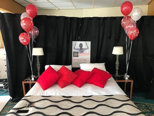 Tafeldecoratie 5ballonnen Gronddecoratie Carlton Oasis Hotel Spijkenisse