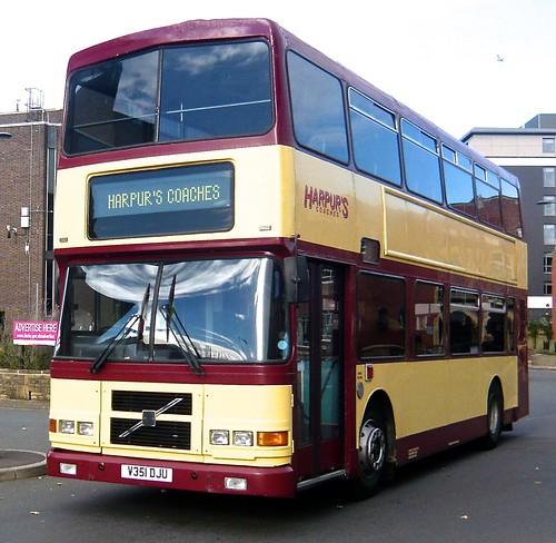 V351 DLU 'Harpurs Coaches', Derby. Volvo Olympian / Alexander RH on Dennis Basford's railsroadsrunways.blogspot.co.uk'