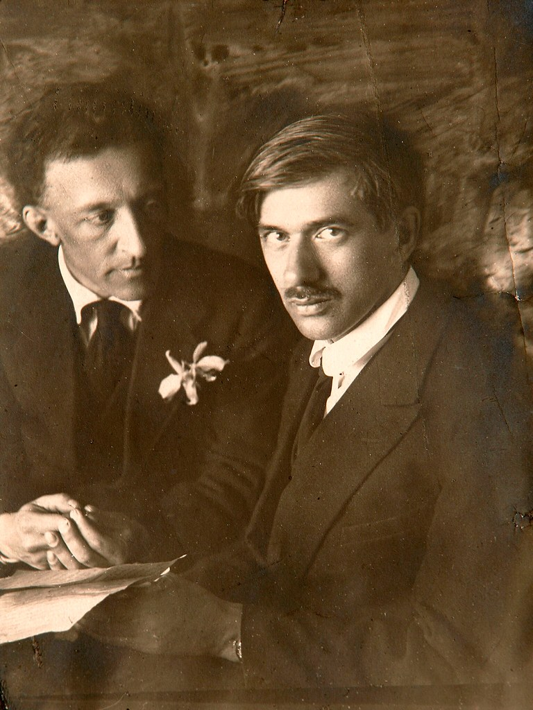 Александр Блок и Корней Чуковский. 1921