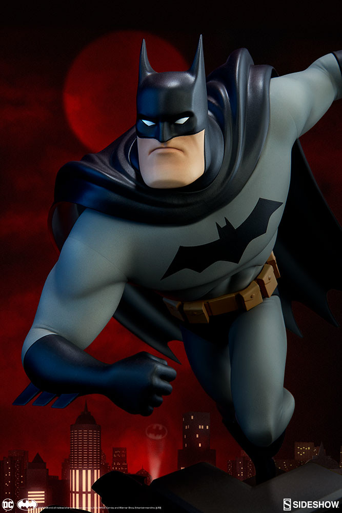 將動畫造型的神髓完全捕捉!! Sideshow Collectibles DC The Animated Series【蝙蝠俠】Batman 全身雕像作品