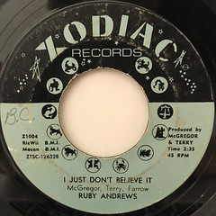 RUBY ANDREWS:CASANOVA(YOUR PLAYING DAYS ARE OVER)(LABEL SIDE-B)