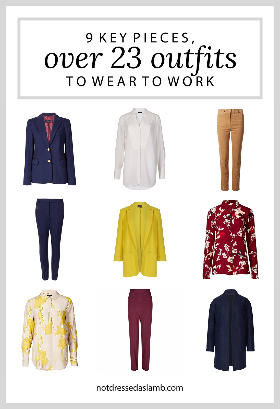 23 Workwear Outfits From 9 Key Pieces Perfect for a Creative Office | Not Dressed As Lamb, over 40 style