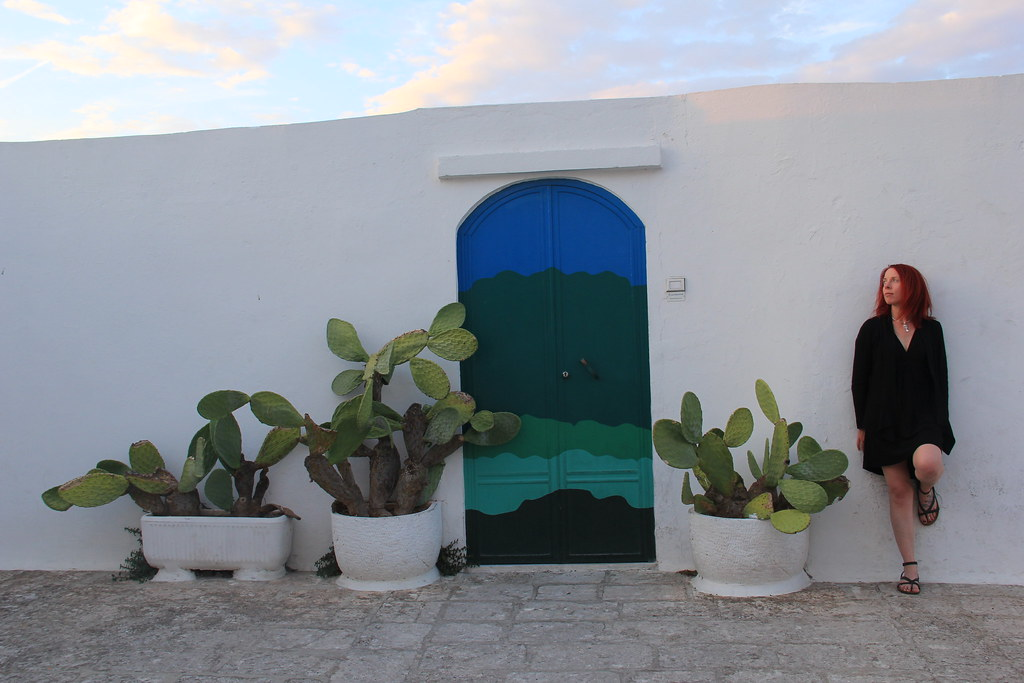 Colourful doors and Prickly pears, Ostuni