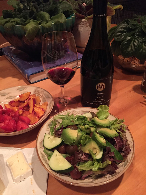 Andrew Murray Syrah with dinner, Lompoc, CA