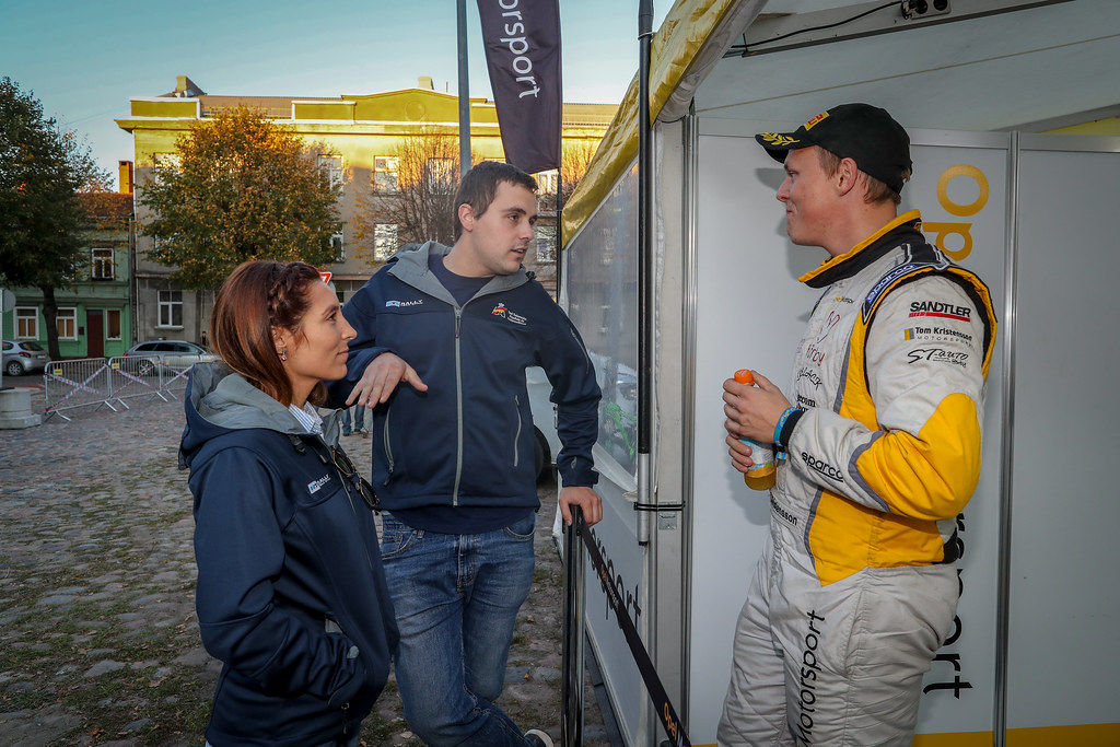 Efren Llarena, Sara Fernandez, KRISTENSSON Tom, (SWE), ADAC Opel Rallye Junior Team, Opel Adam R2,Portrait during the 2018 European Rally Championship ERC Liepaja rally,  from october 12 to 14, at Liepaja, Lettonie - Photo Alexandre Guillaumot / DPPI