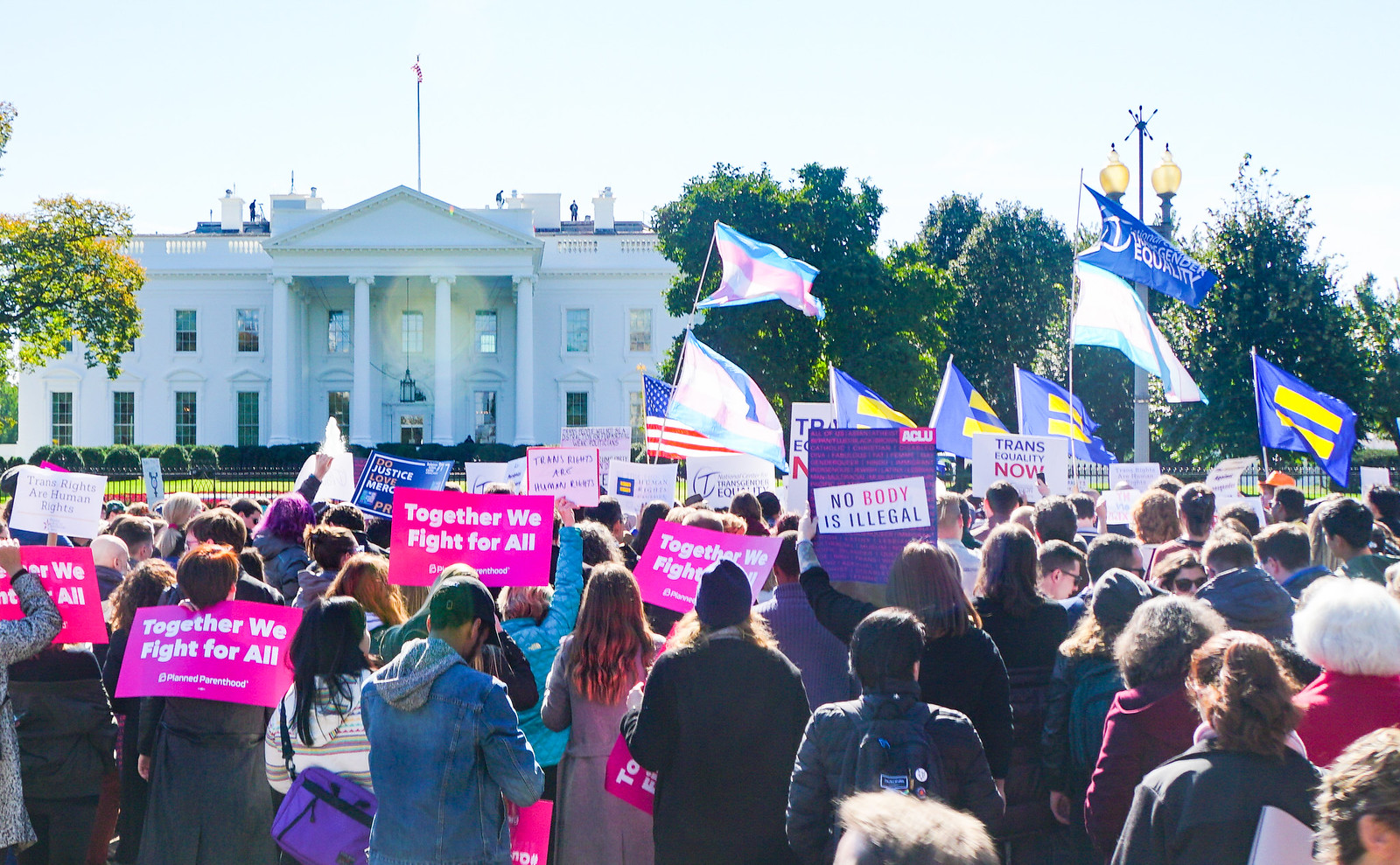 Photos: We Won't Be Erased - Rally for Trans Rights, Washington, DC USA