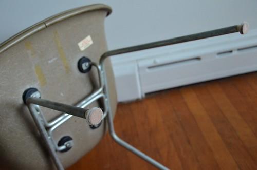 "1"" Sticky Felt Sliders on Eames Shell Chair Feet"