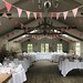 Rose Pink bunting hire at Blagdon Parlour