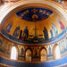 Apse with mosaic (1291) by Jacopo Torriti, restored on 1884-1886 - San Giovanni in Laterano Church in Rome