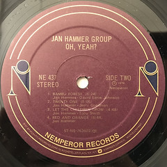 JAN HAMMER GROUP:OH YEAH?(LABEL SIDE-B)