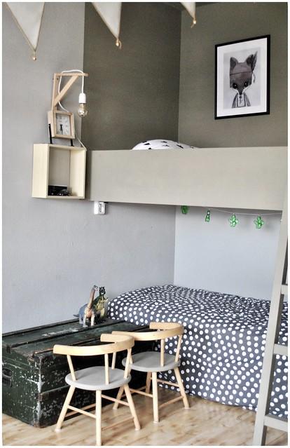 Kinderkamer stapel bed speelgoedkist landelijke stijl