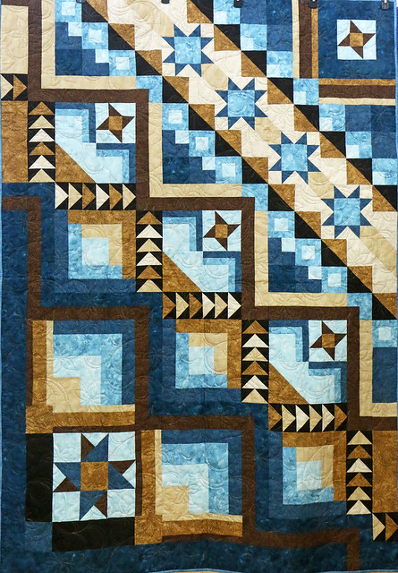 94: My Blue and Brown Quilt - Cynthia Wilsher