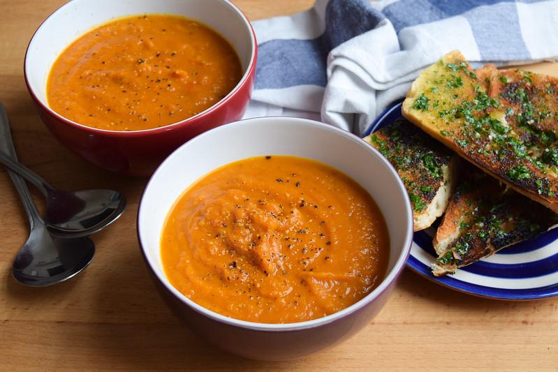 Slow Roasted Tomato & Butternut Squash Soup