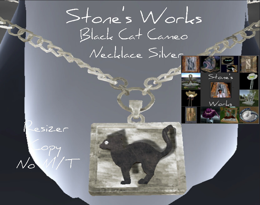 Black Cat Cameo Necklace in Silver - TeleportHub.com Live!