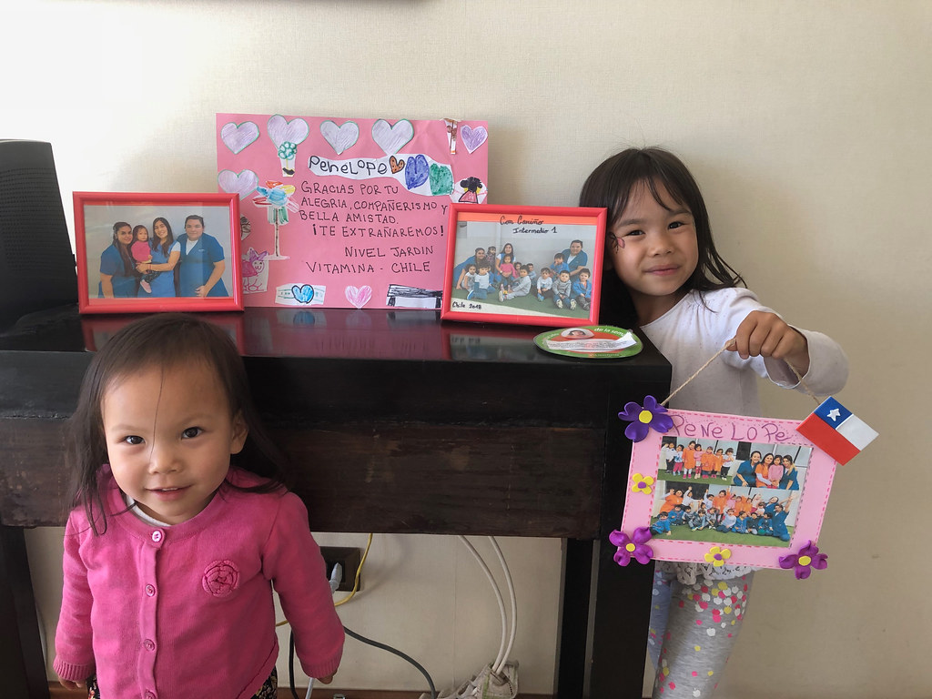 On their last day of school, the girls' teachers gave them some lovely gifts