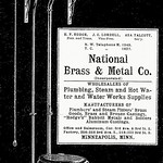 Fri, 2017-02-03 20:15 - Ad from the 1904 Minneapolis City Directory for National Brass and Metal Company, depicting an early 20th Century toilet. Indoor plumbing was a major luxury in those days.