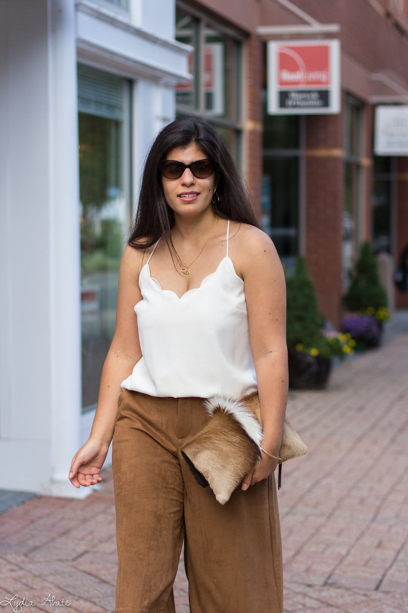 Cream Scalloped Cami, Brown Suede Culottes, Springbok Clutch-15.jpg
