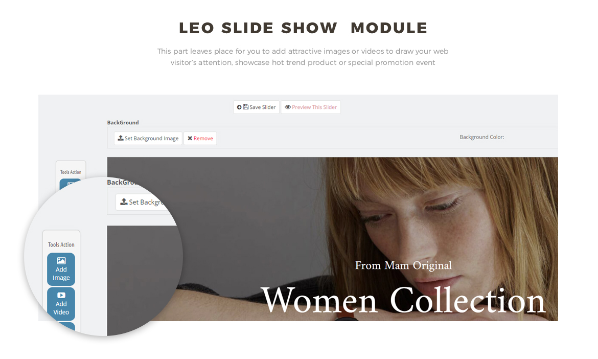 slideshow module - fashion and accessories theme