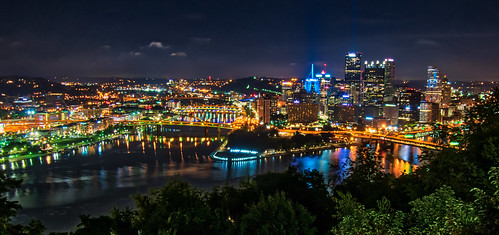alleghenyriver hdr monongahelariver nikon nikond5300 ohioriver outdoor pennsylvania pittsburgh pointstatepark pointofviewpark city downtown geotagged lights longexposure night reflection reflections river rivers scenic sky tree trees urban water unitedstates skyscraper skyscrapers building buildings cityscape