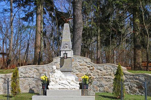 Dobersberg. Kriegerdenkmal, 1.Weltkrieg, um 1920