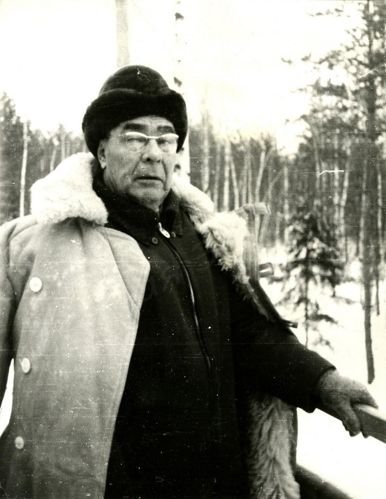 1970-е. Л.И.Брежнев на охоте.