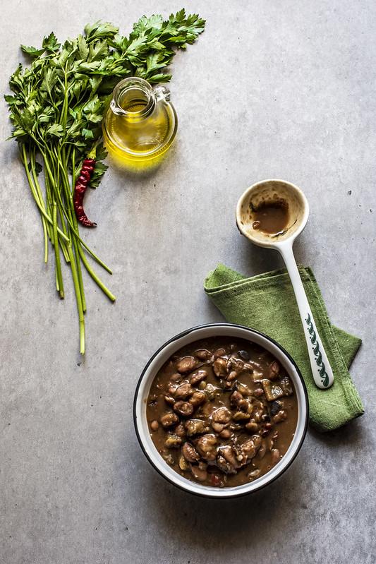 Zuppa di fagioli e melanzane - ricetta