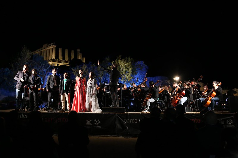 L'Orchestra Erasmus in concerto alle Valle dei Templi di Agrigento