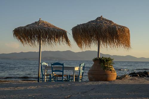 Strandcafé in Griechenland