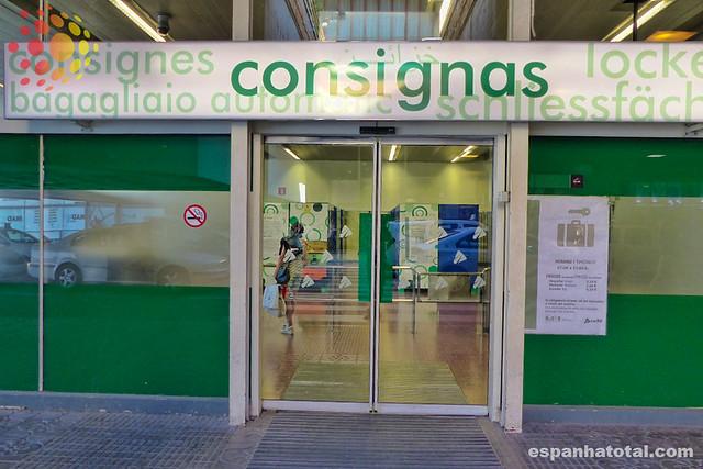 guarda-volumes, estação de Chamartín, Madrid