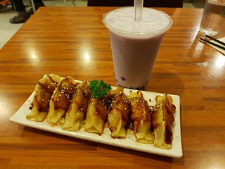 Dumplings and Taro Soy Bubble Milk Tea at Kuan Yin Southport