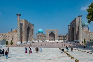 Registan Samarkand, Medresen Ulugʻbek, Tilya-Kori, Sher-Dor
