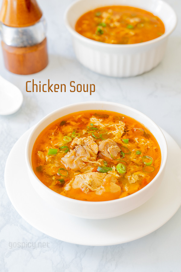 Chicken Egg Drop Soup Recipe by GoSpicy.net