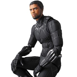 T'challa Head Sculpt Included! Mafex Black Panther (Infinity War)