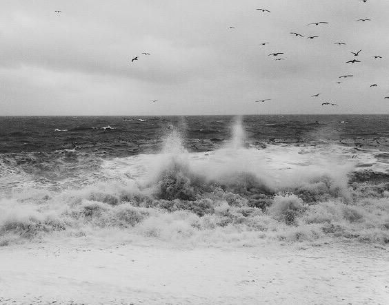 torcross start bay stormy ocean