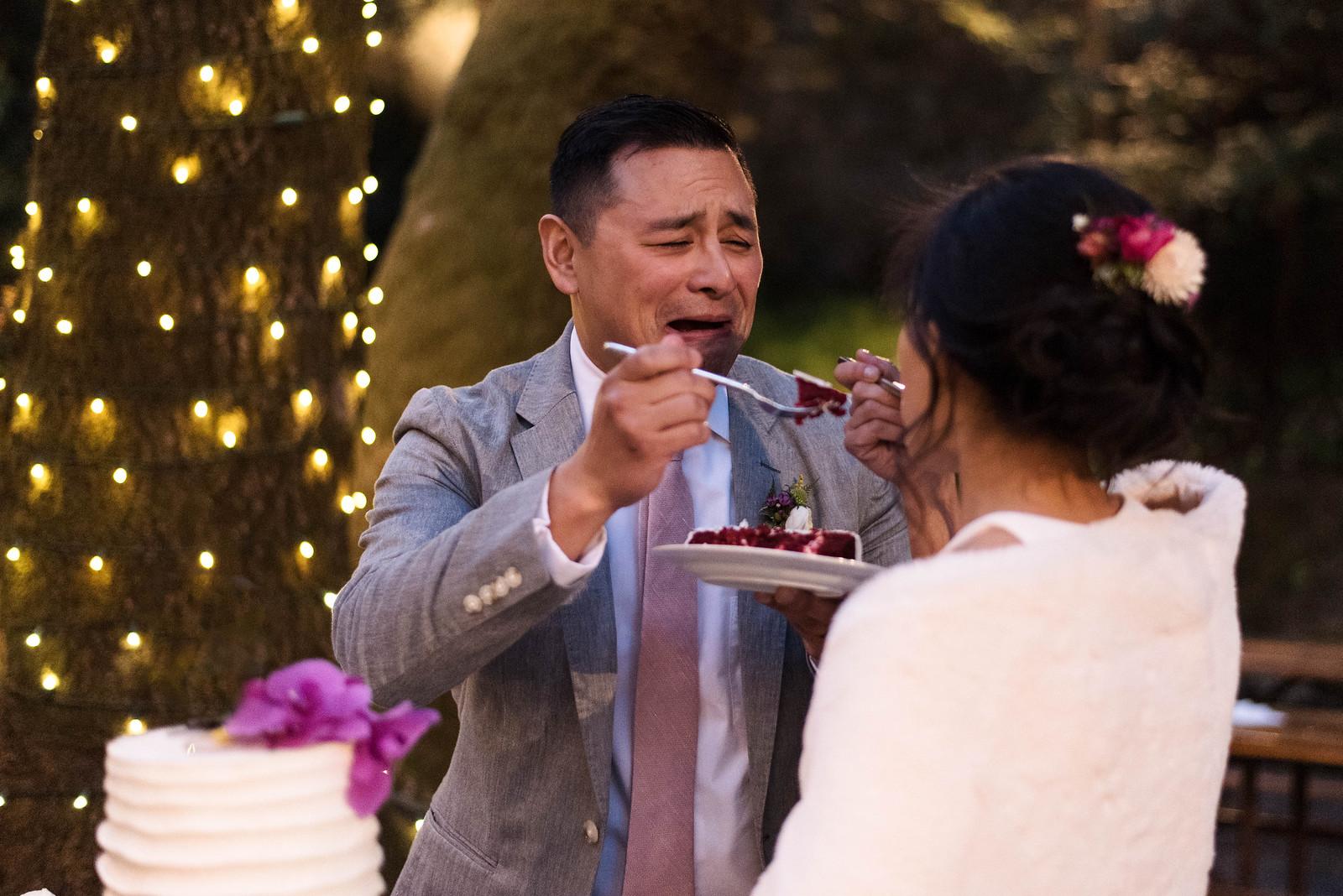 red velvet cake with orchids wedding on juliettelaura.com