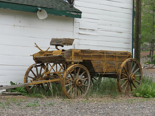The wagon out back