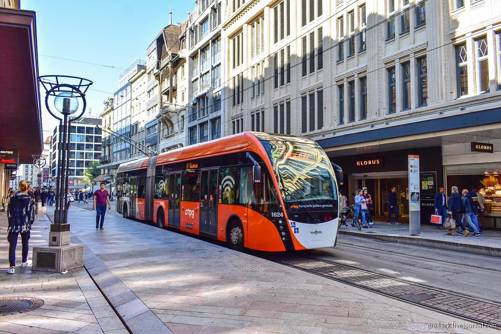 Троллейбусная линия в Женеве
