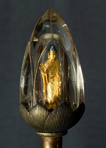 Crystal encased Amitabha statue 2