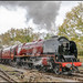 Duchess of Sutherland leaves Butterley