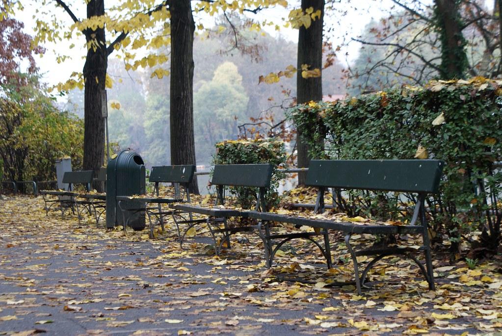 Dans le parc Valentino à Turin.