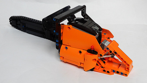 Lego Technic Chainsaw (MOC - 4K)