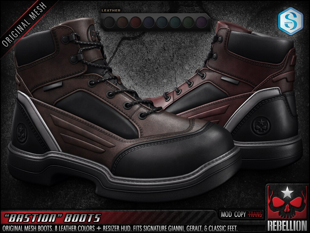 "= REBELLION = ""BASTION"" BOOTS"