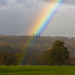 Rainbow touches down in the Lowther Estate, Eden Valley, Cumbria