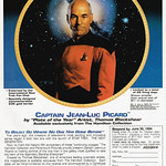 """Tue, 2018-10-16 13:18 - Captain Jean-Luc Picard by """"Plate of the Year"""" Artist, Thomas Blackshear, 1994"""