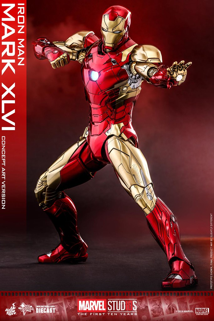 Hot Toys - MMS489D25 - Marvel Studios 十週年【鋼鐵人馬克46 (概念藝術版)】Iron Man Mark XLVI (Concept Art Version) 1/6 比例合金人偶作品